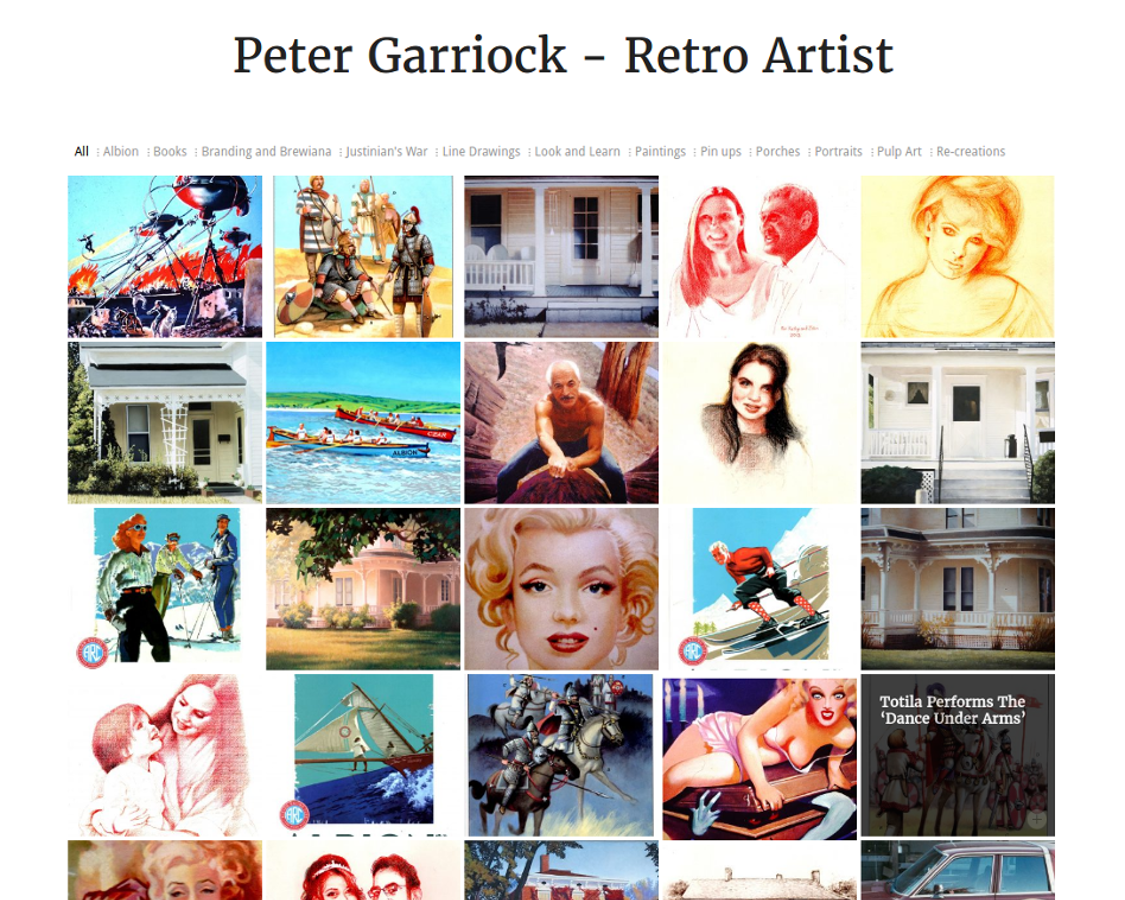 Peter Garriock – Retro Artist